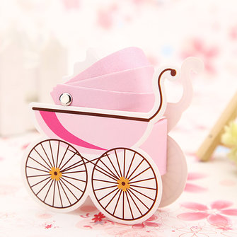 10pcs Korean Wedding Favor Baby Shower Baby Stroller Candy Box