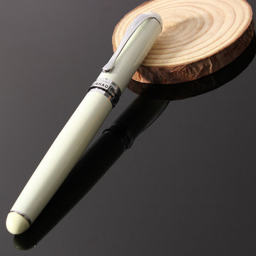 Jinhao X750 Gloss Ivory White M Nib Fountain Pen