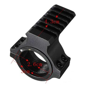 30mm Ring Scope Flashlight Laser Tube Picatinny Rail Mount Adapter