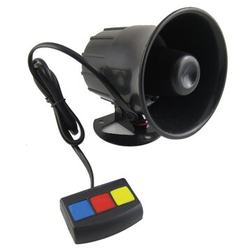 30W 3 Sounds Motorcycle Auto Car Alarm Horn Alarm Siren