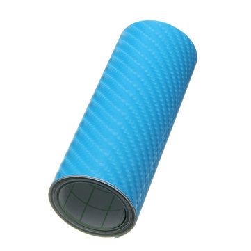 4x60 Inch 3D Carbon Fiber Vinyl Wrap Car Sticker Film Blue