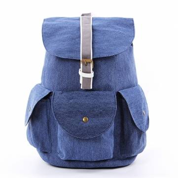 Men Canvas Backpack Outdoor Shoulder Bag Retro Hiking Travel Rucksack