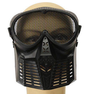 Hunting Biker Airsoft Paintball Tactical Full Face Guard Mesh Mask