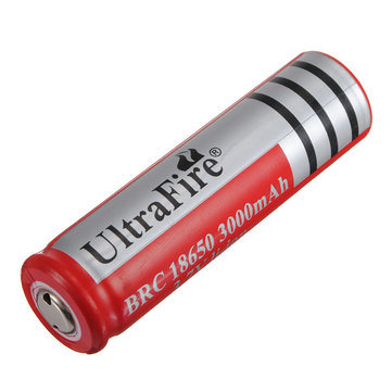UltraFire 3.7V 18650 3000mAh Rechargeable Battery Red