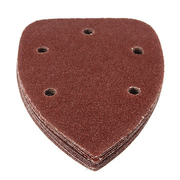 12Pcs 5 Holes Mixed Triangular Sanding Sheet Hook Sander Sandpaper