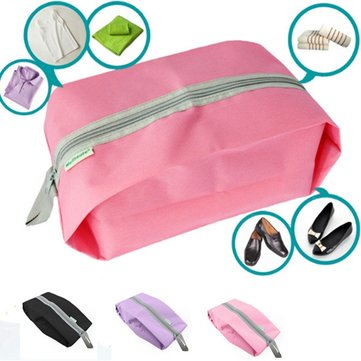 Laundry Waterproof Travel Bag Zipper Portable Storage Bag Shoe Pouch