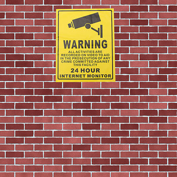 200 x 250mm Monitoring Security Cameras CCTV Surveillance Warning Sign