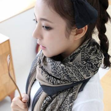 Fashion Women Cotton Print Long Scarves Shawl Large Wrap Scarf