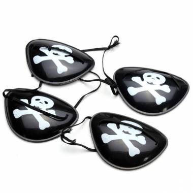 4PCS Pirate Eye Patch Halloween Masquerade Pirate Accessories