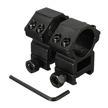 25.4mm Scope Rings For Picatinny Weaver Rail Mount Black 2pcs