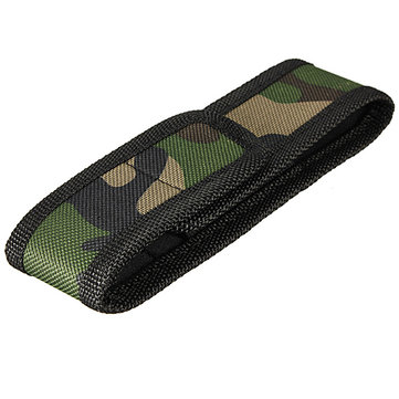 16cm x 26cm Camouflage LED Flashlight Nylon Bag Holder