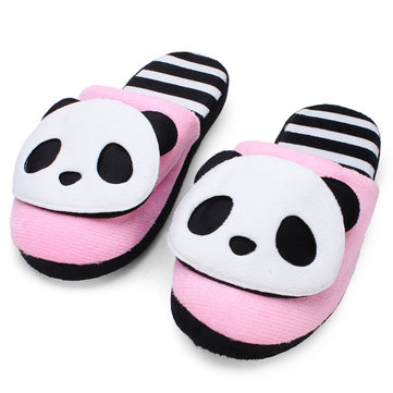 Autumn Winter Warm Cute Panda Home Shoes Soft Bottom Slippers
