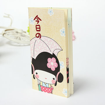 Kimono Girl Diary Pocket Notebook Note Paper Journal Planner Schedule