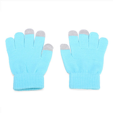 Men Women Touch Screen Glove Soft Warm Winter Wool Gloves Mittens