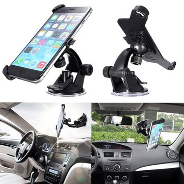 360 Angle Wind Shield Zuig Car Holder Cradle Stand Voor iPhone 6