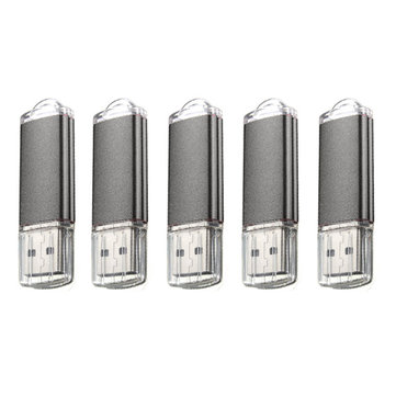 5 x 128MB USB 2.0 Flash Drive Candy Black Memory Storage Thumb U Disk