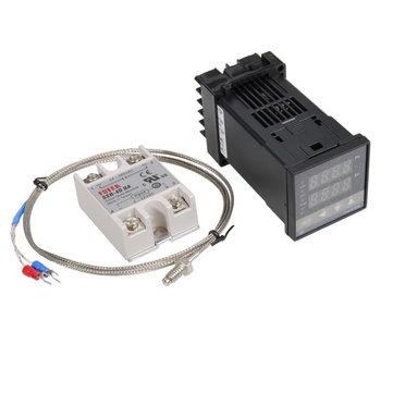 REX-C100 110-240V 1300 Degree Digital PID Temperature Controller Kit with 400 Degree Probe