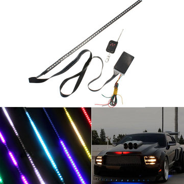 48 RGB LED Light Strip Scanner knight rider Strobe Car Under Hood