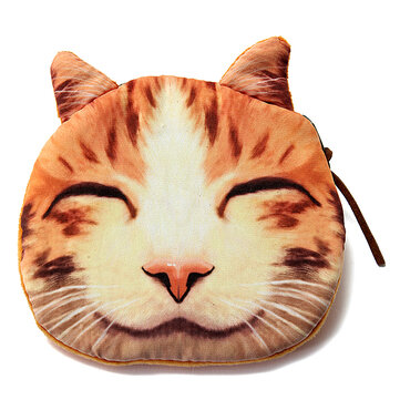 Lovely Dog Cat Face Coin Zipper Purse Pouch Pocket Mini Wallet