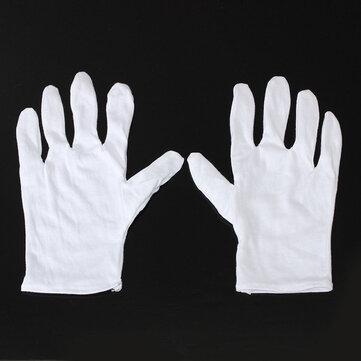 1pair guanti di cotone bianchi guanti di protezione anti-statiche per il lavoro BGA