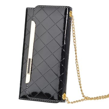 Messenger Pouch PU Leather Metal Chain Case For iPhone 6 Plus