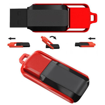 8GB USB 2.0 Swivel Black and Red Flash Drive Memory Thumb Pen U Disk