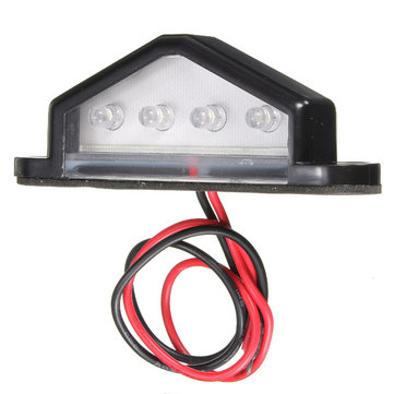 10-30V 4 LED Rear License Plate Light Lamp Truck Trailer Waterproof