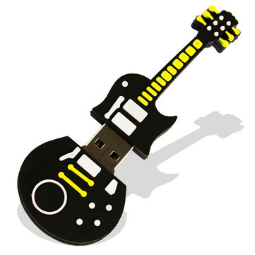16GB Cute Black Guitar Style Flash Drive USB 2.0 Stick Memory U Disk