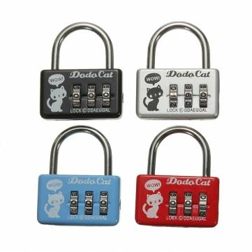 Mini 3 Digit Number Luggage Suitcase Security Cable Lock Padlock