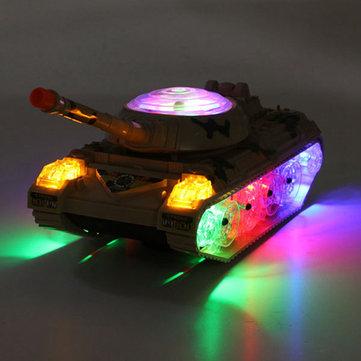 Ejército de tanques en movimiento sonando rueda intermitente LED luces de colores