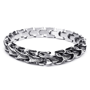 d5ff827ab94 punk snake shaped 316l stainless steel bracelet mens jewelry at ...