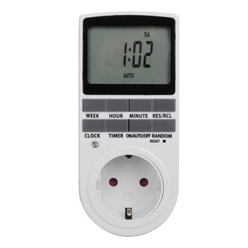 Programmable 24h 7 Day Week Digital Timer LCD Display Timer Switch