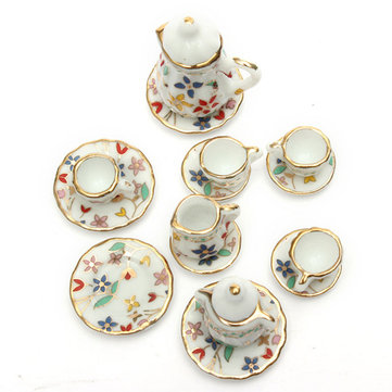 1:12 Mini Dollhouse Furniture Accessories Colorful TeaSet 15