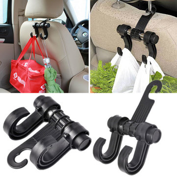 Black Auto Car Seat Purse Bag Organizer Hanger Tool Holder Hook