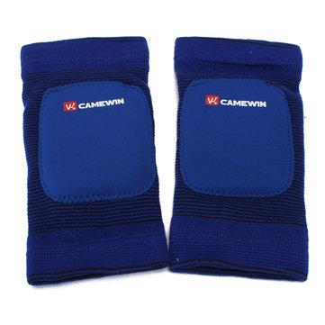 Blue Red 1 Pair Leg Knee Pads Elastic Kneelet Knee For Athletic Sports