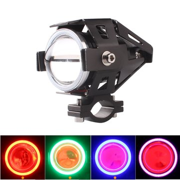 4 Color Angel Eyes High Low Beam U6 LED Red Fog Spot Headlights
