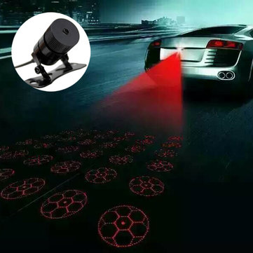 Car Laser Fog Lamp Anti-Fog Light Auto Rearing Warming Light Football Style