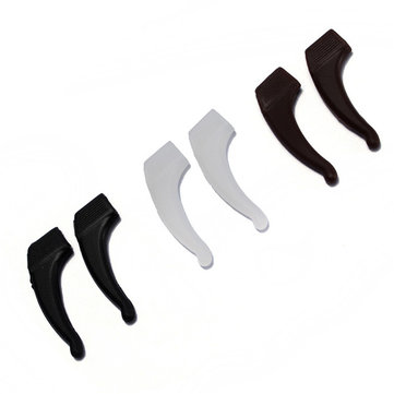 Silicone Anti-Slip Ear Glasses Holder Temple Hooks Grips 3 Colors
