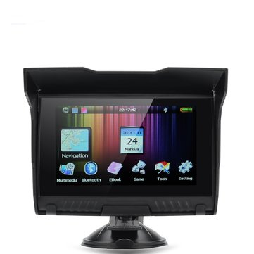 5inch TFT Touch Screen Waterproof Motorcycle GPS Navigator