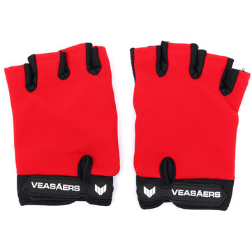 Motorcycle Half Finger Cycling Gloves Bike Bicycle Outdoor Sport S M L XL Red