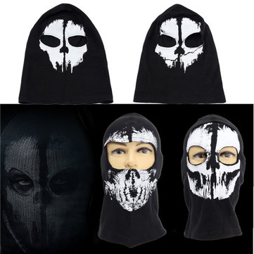 Hallowmas Full Face CS Ski Skull Mask Ghost Skateboard Hood Cosplay