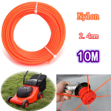 2.4mm x 10m Flexible Nylon Grass Trimmer Line Rope For 23-35cc Petrol Strimmers