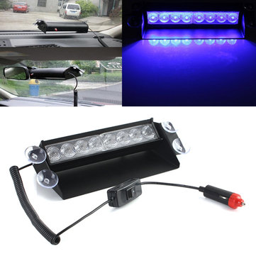 Blauw 8 LED Noodstrook Licht Car Cigarette Break Light