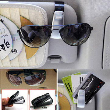 Car ABS Visor Sunglass Eye Glass Glasses Card Holder Clip