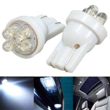 2adet 12V Araba 4 LED İç Sayı Kap Ampul Lamba Parlak Beyaz