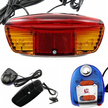 Multifunctional Bike Bicycle Tail Turn Brake LED Light Electric Horn
