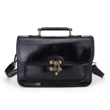 Woman PU Leather Retro Messenger Bag Handbag Shoulder Bag