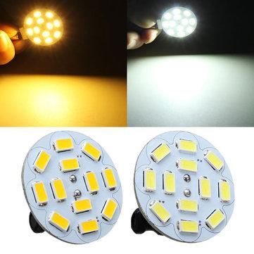 G4 3W สีขาว / สีขาวอบอุ่น 12 SMD 5730 ไฟ LED หลอดไฟ 12V