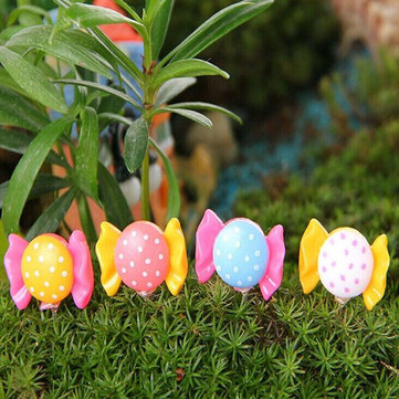 DIY Miniature Bow-knot Toy Ornaments Potted Plant Garden Decor