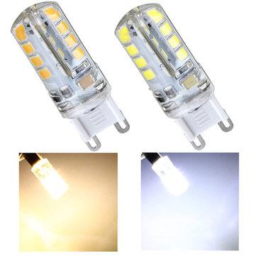 G9 2.8W AC 220V 32 SMD 2835 Cool White/Warm White LED Crystal Bulb